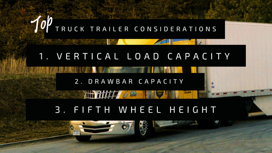 Top 3 Considerations When Specifying Your Truck Trailer Fifth Wheel