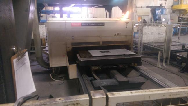 The Mazak 1500 watt laser cutting system from Wiley Metal
