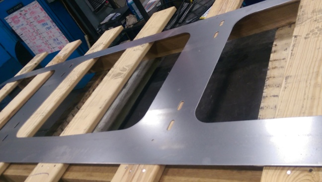 metal fabrication with punched holes